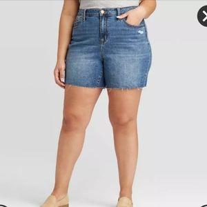 NWT UNIVERSAL THREAD High Rise Jean Shorts, 22W